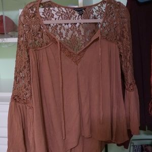 AEO Lacey Peasant Blouse